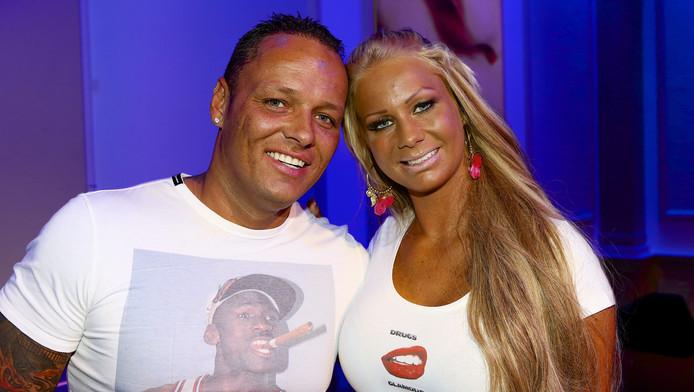 Samantha de Jong (Barbie) en Michael van der Plas tijdens de najaarspresentatie van RTL