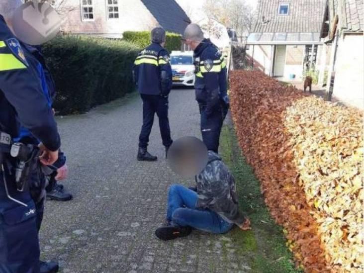 Gezochte man wordt door meerdere agenten aangehouden in Lage Mierde