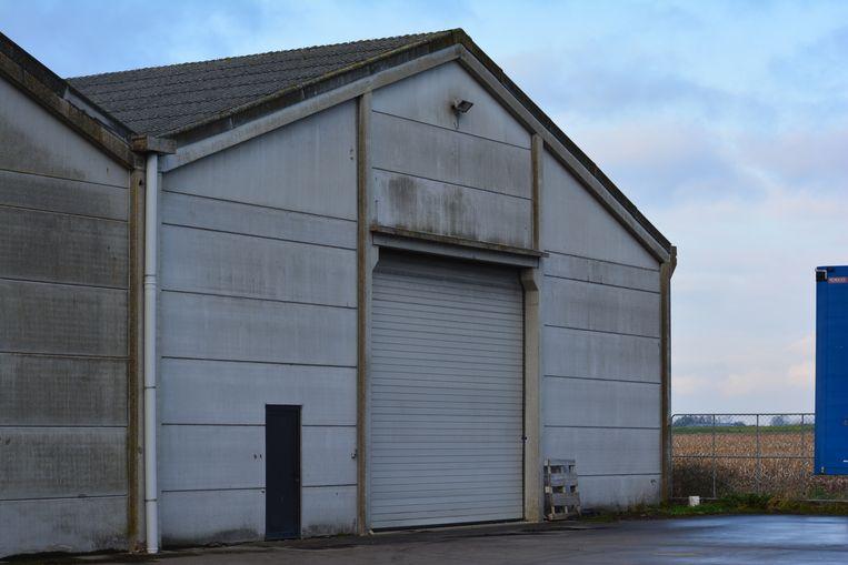 Leisele - In deze hangar achter de feestzaal werd een cannabisplantage ontdekt