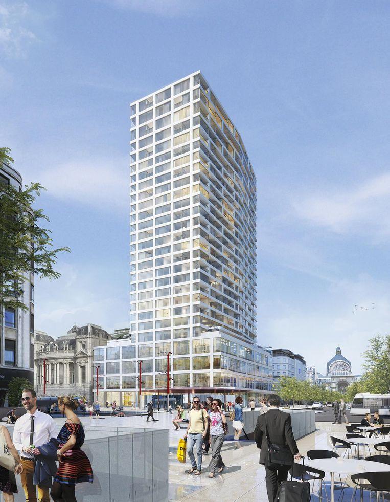 Zo zal de Antwerp Tower, die zijn naam behoudt, er in 2020 uitzien.