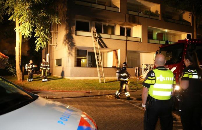 Het appartement was na de brand onbewoonbaar.