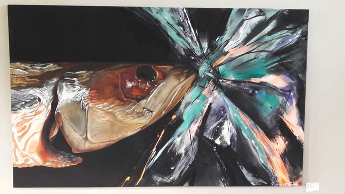 Werk van Esther Claus en Isabelle Roskam, te zien in Gallery Elzenhoeve in Luyksgestel.
