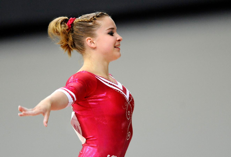 Maartje Ruikes in actie op het NK in 2015.