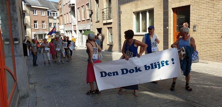 Actiecomité De Dok Blijft stapte ook al mee in de Processie van Plaisance.
