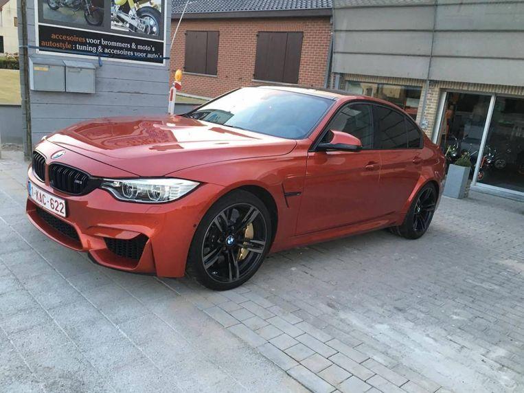 De gestolen BMW M3.