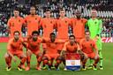 De opstelling van Oranje voor Italië-uit.