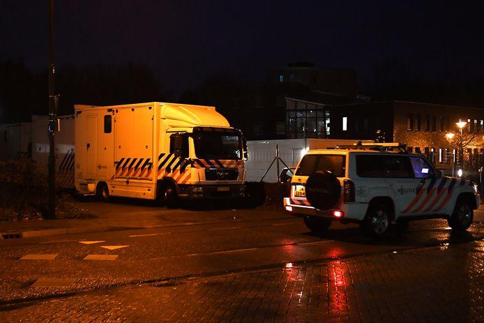 Politie houdt de wacht in Katwijk.
