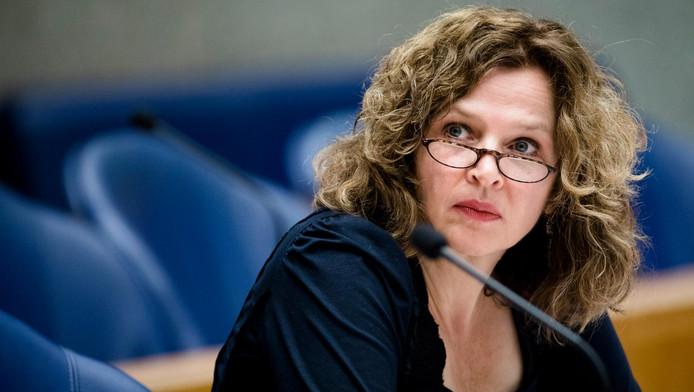 Minister Edith Schippers tijdens het debat