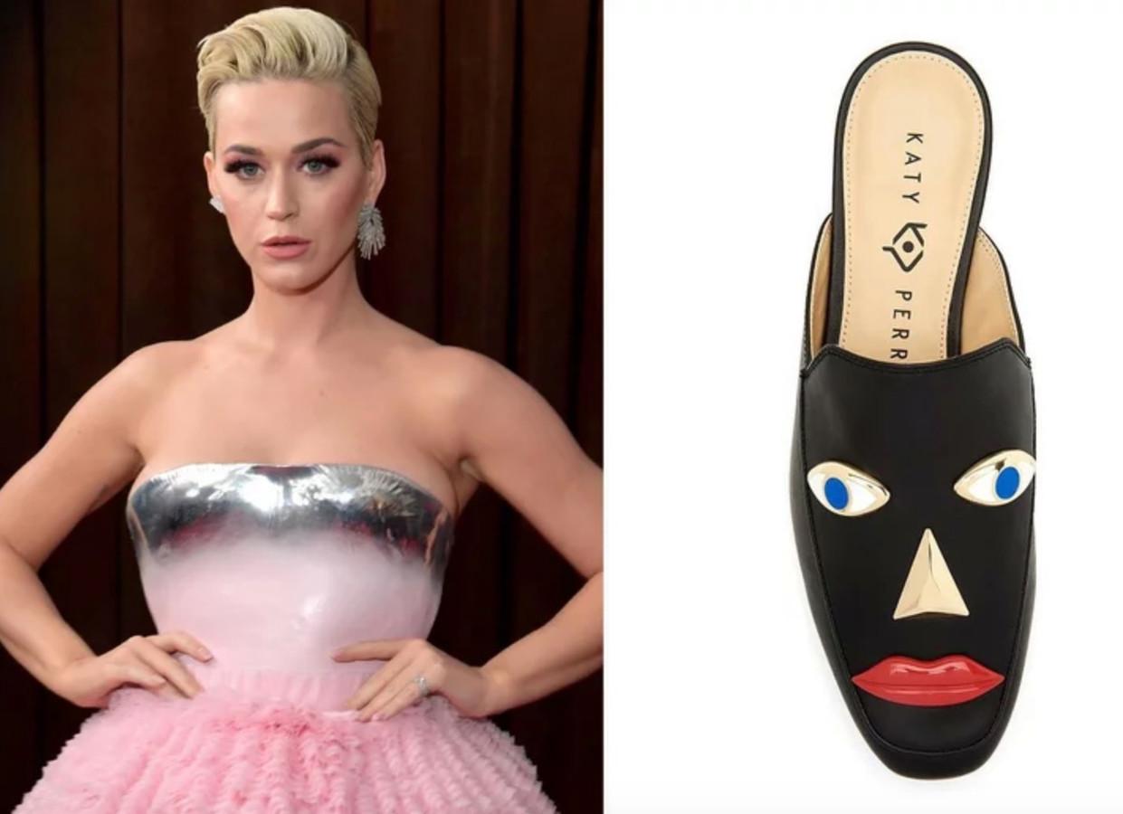 Katy Perry en de bewuste 'blackface'-schoenen.