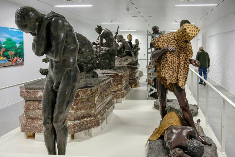 Opening Afrika Museum: Beelden die koloniaal verleden verheerlijken werden in een afzondelijke zaal gezet.