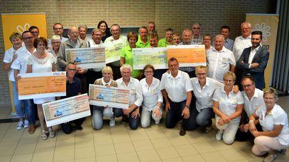 Verenigingen schenken 8.200 euro aan 'Kortemark Komt Op Tegen Kanker'