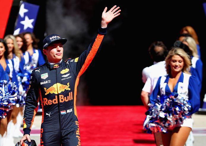 Verstappen bij de GP van Amerika vorig jaar.