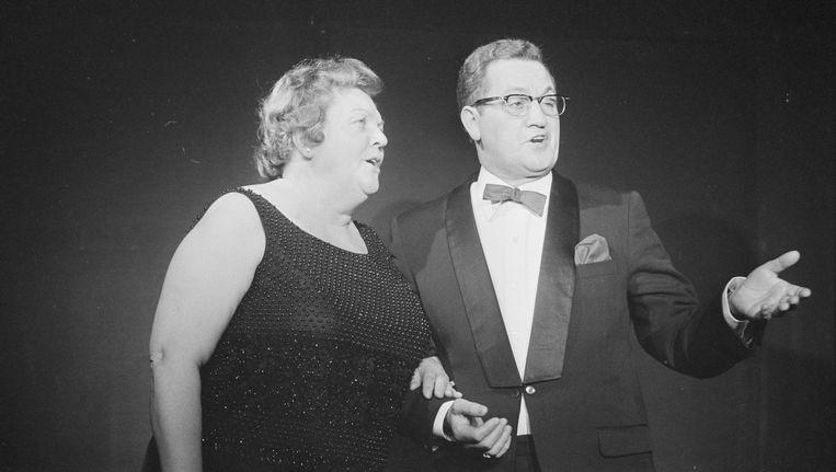 Tante Leen en Johnny Jordaan Beeld anp