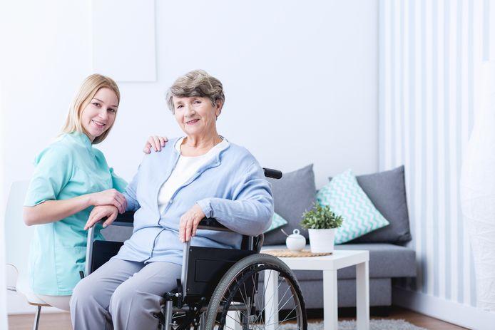 stockadr zorg oudere hulp verpleging verpleegster thuiszorg