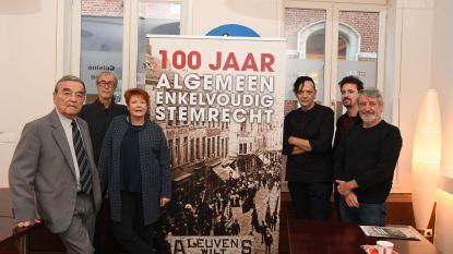 """Socialistische beweging herdenkt Bloednacht van 1902:""""Zes Leuvense doden in de strijd voor algemeen stemrecht!"""""""