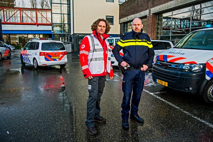 Vrijwilligers ondersteunen de hulpdiensten in noodsituaties.