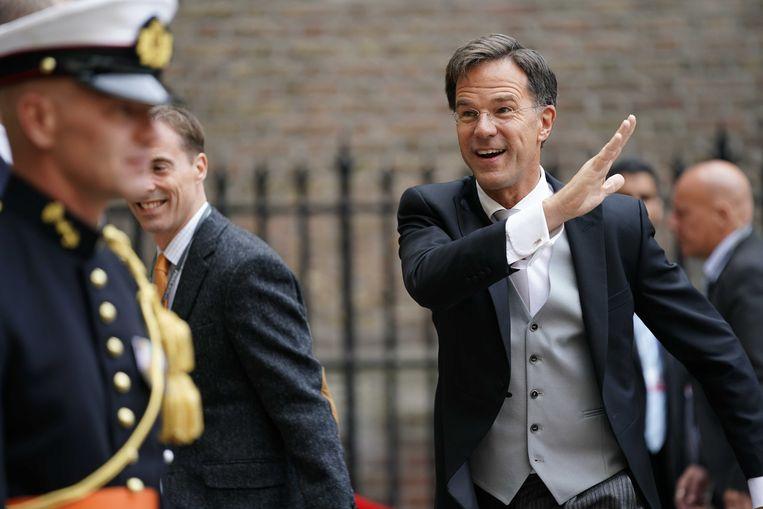 Minister-president Mark Rutte (VVD) bij de Ridderzaal voor Prinsjesdag. Beeld ANP/Phil Nijhuis