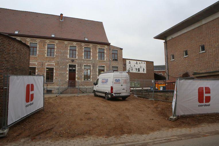 De bouwwerf aan de Hertogensite.