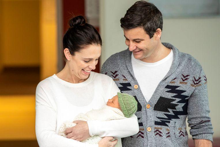Jacinda Ardern is in juni bevallen van dochtertje Neve.