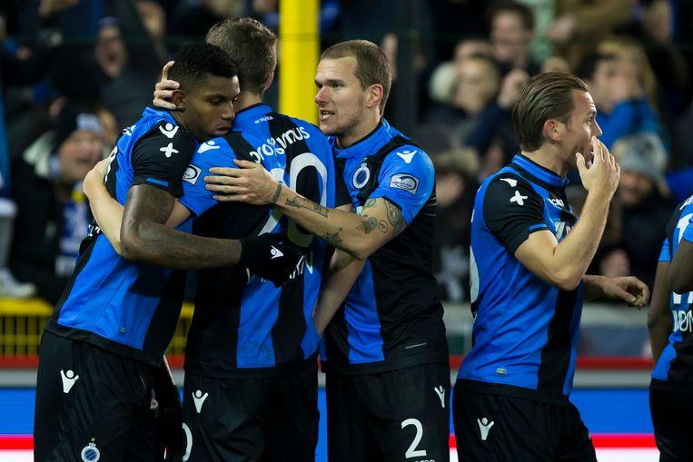 Club Brugge mocht drie keer vieren.
