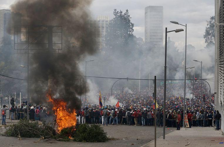 Protest in Quito.
