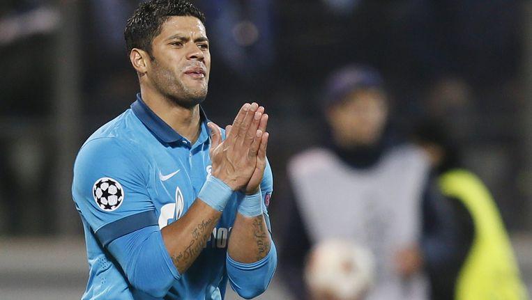 De Braziliaanse aanvaller Hulk, spelend bij Zenit St. Petersburg. Beeld anp