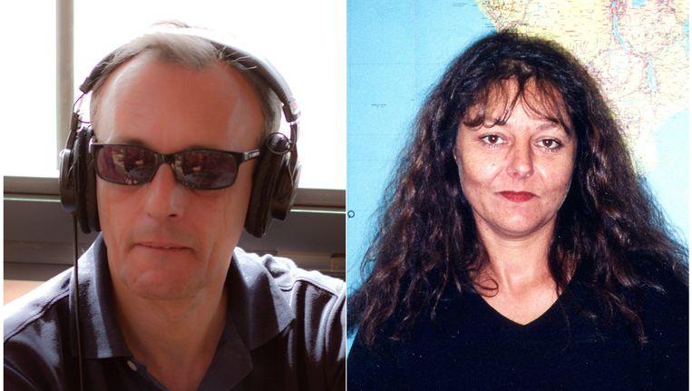 De twee Franse journalisten Claude Verlon (links) en Ghislaine Dupont (rechts) werden doodgeschoten in het noorden van Mali. Beeld EPA