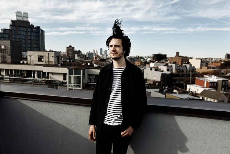 De Correspondent-medeoprichter Ernst-Jan Pfauth verbleef in New York om de Engelstalige variant The Correspondent te promoten.  Beeld Daniel Rosenthal