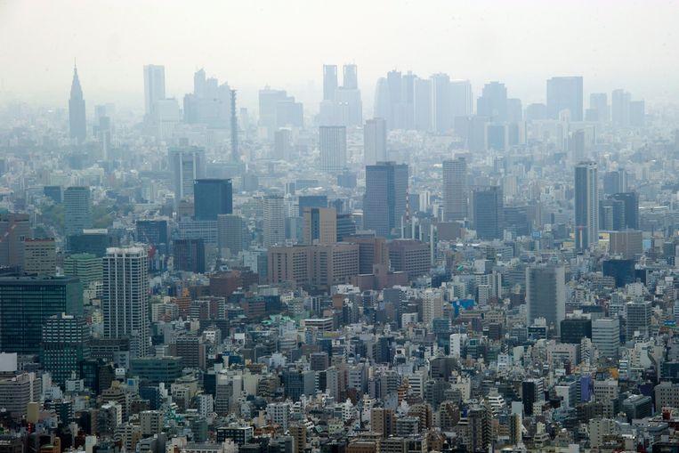 Het uitzicht over Tokyo vanuit de toren. Beeld EPA