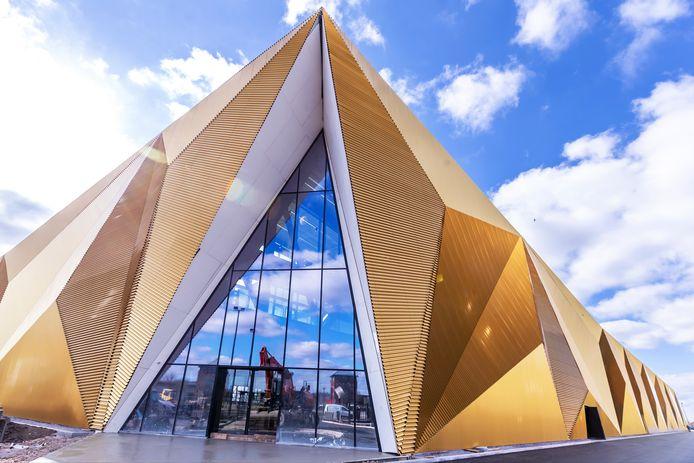 Het nieuwe hypermoderne gebouw van de Koninklijke Nederlandse Munt in Houten.