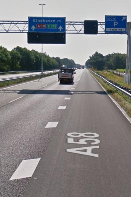 Nog een weekend omrijden: A58 naar Eindhoven weer dicht