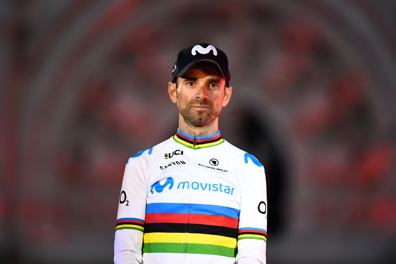 Valverde op het podium.