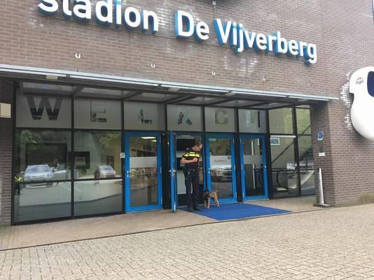 Bouke ging ook even kijken op De Vijverberg, het stadion van De Graafschap.