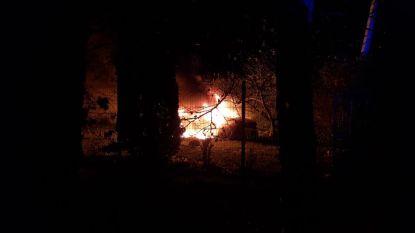"""Wagen helemaal uitgebrand na zware crash, bestuurder gearresteerd: """"Kort ervoor was hij gevlucht voor de politie"""""""