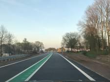 Auto's over de nieuwe N34 bij Hardenberg