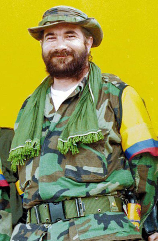 Rodrigo Londoño Echeverri, alias 'Timochenko', in zijn tijd als FARC-leider.