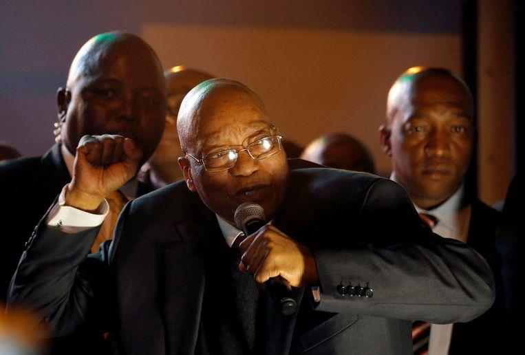 President spreekt aanhangers toe in Kaapstad. Beeld REUTERS