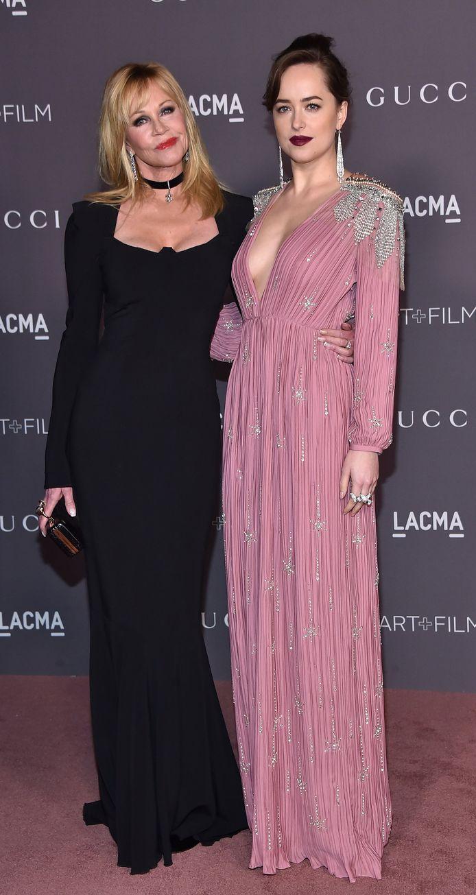 Melanie Griffith et sa fille, Dakota Johnson, en 2017.