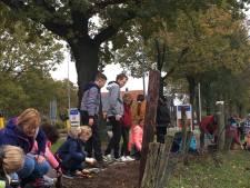 Kinderen uit Nederland en Duitsland poten 3500 bollen voor de vrijheid