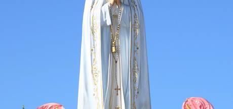 Beeld Maria van Fatima verschijnt een dagje in Hengelo