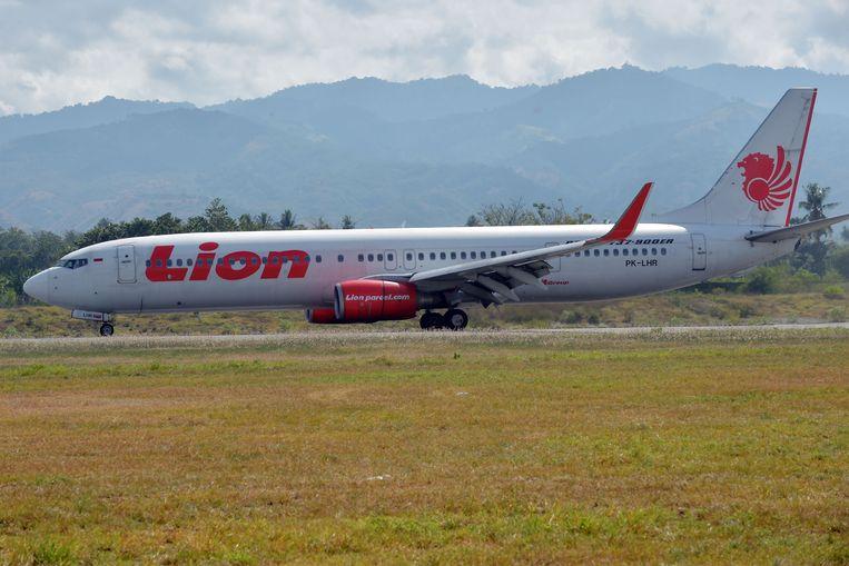 Een vliegtuig van Lion Air.