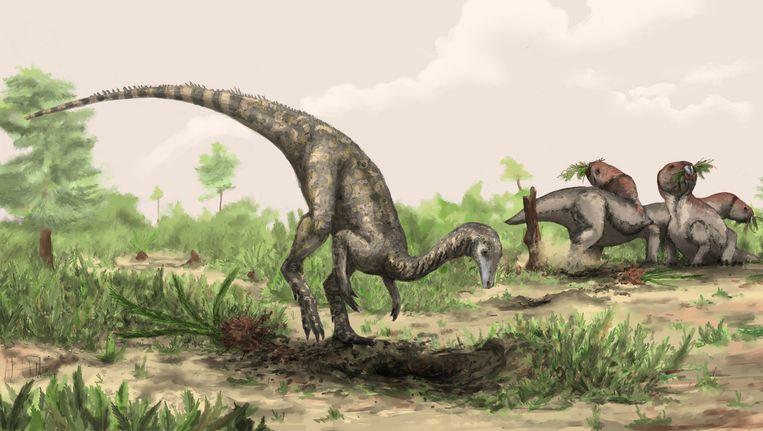Dinosauriërs zullen we waarschijnlijk nooit in het echt zien Beeld REUTERS