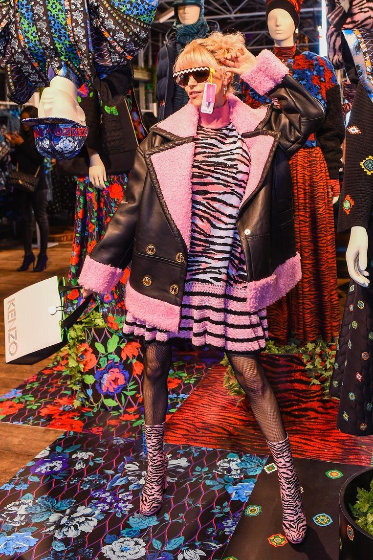 Tanja vorige week bij de lancering van H&M X Kenzo