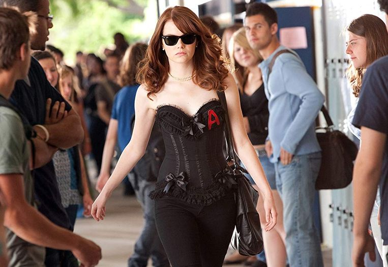 Emma Stone in Easy A (2010).  Beeld
