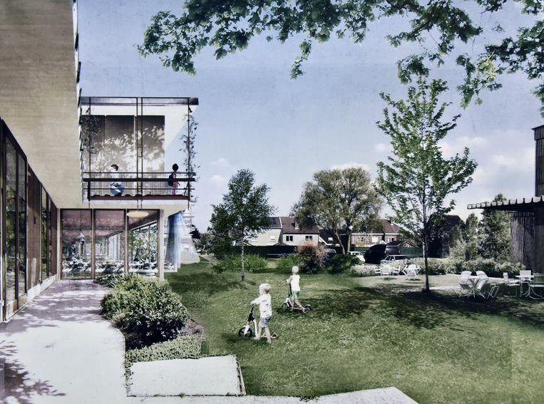 Toekomstbeeld van de nieuwe gemeenteschool Melle
