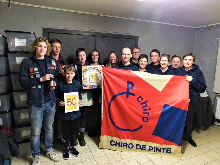 De leden en ex-leden van Chiro De Pinte zijn klaar voor hun feestweekend.