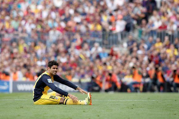 Diego Costa kan niet meer verder in FC Barcelona - Atlético.