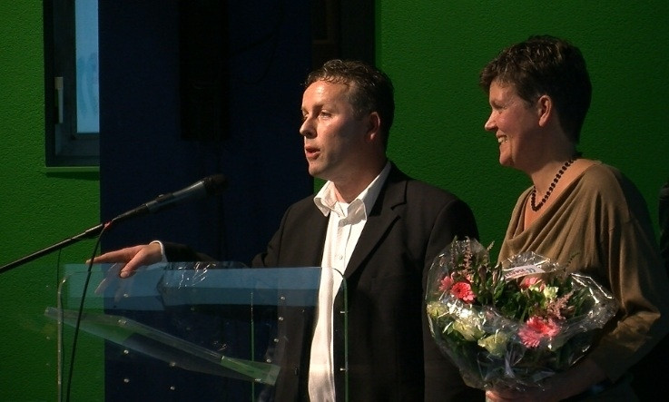 Wendy Marteijn-Hulsteijn en Kees de Ridder, winnaars van de PZC-Publieksprijs 2011.