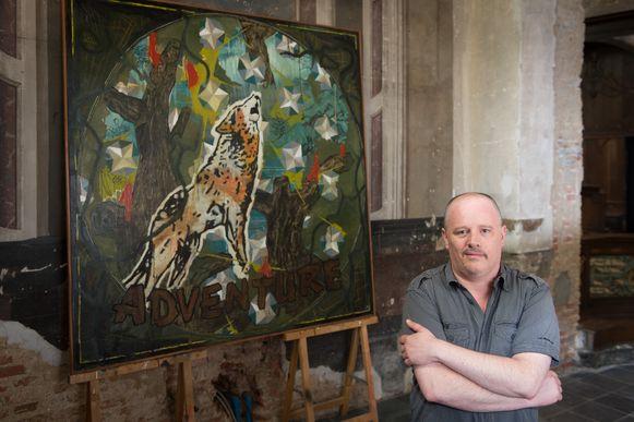 Tom Peeters van Monumental op de expo. Na deze tentoonstelling zal hij zijn job verliezen.