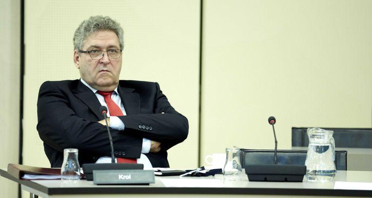 Henk Krol gisteren in de Tweede Kamer. Beeld null
